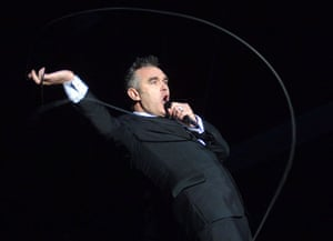 Morrissey: 2 June 2006: Morrissey performs on stage during 'Rock am Ring' in Nuerburg