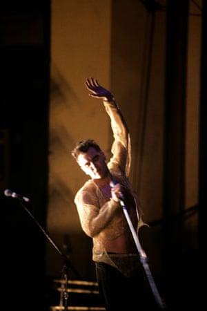 Morrissey: 1992: Morrissey singing on stage