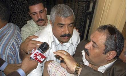 Moustafa leaves court in Cairo