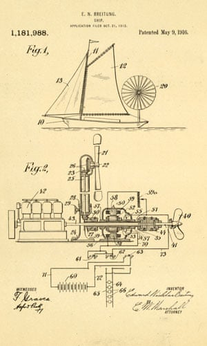 Green technologies: Windmill electric generator Ship
