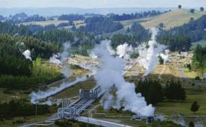 Green technologies: Power Station, Wairakei, New Zealand