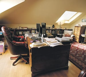 Clive James's writing room for Saturday Review.