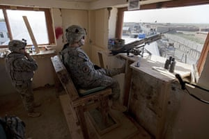 Sean Smith in Afghanistan: American soldiers on guard duty at FOB Waza Kwah