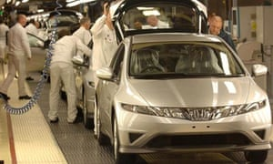 Workers at Honda's Swindon factory