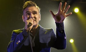 Morrissey performs on stage at the MEN Arena, May 2004