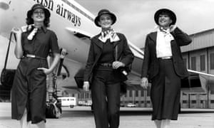 BA air stewardesses from 1977