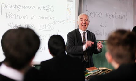 Philip Blackshaw takes a Latin class