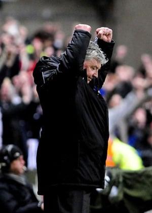 Relegation timescale: Joe Kinnear celebrates
