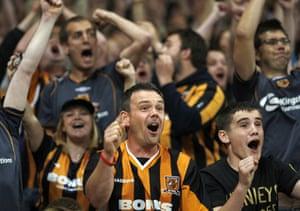 Relegation timescale: Hull Fans celebrate