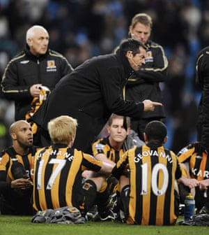 Relegation timescale: Phil Brown talks to his team