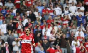 Relegation timescale: Tuncay celebrates