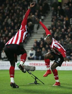 Relegation timescale: Cisse celebrates
