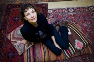 Hay festival yurt: Rebecca Miller, American writer Hay-on-Wye book festival 2009