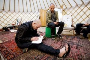 Hay festival yurt: Jake and Dinos Chapman