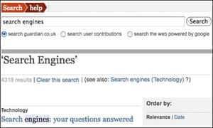 Changes to search on guardian co uk | Help | The Guardian