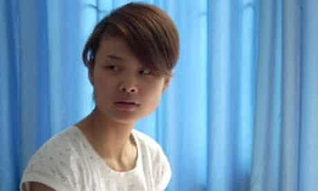 Chinese waitress Deng Yujiao at a hospital in Badong, China
