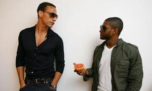 Rio Ferdinand with Usher