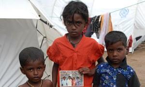 Tamil children at Menik Farm internment camp in Sri Lanka