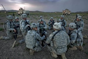 Sean Smith Afghanistan: American Army troops prepare to set up an overnight observation post