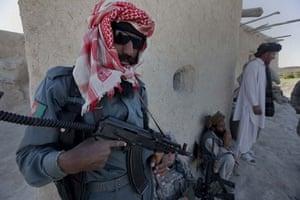 Sean Smith Afghanistan: Afghan national police in Ashak village