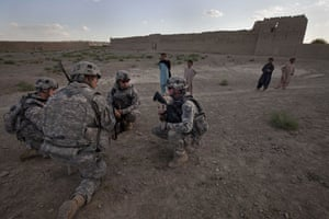 Sean Smith Afghanistan: American Army troops in Shahin Kalay while on a three day patrol