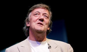Stephen Fry at the Hay festival