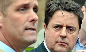 Nick Griffin and Richard Barnbrook in Westminster