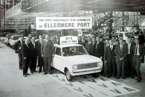 Vauxhall cars: First Vauxhall car comes off the production line at Ellesmere Port