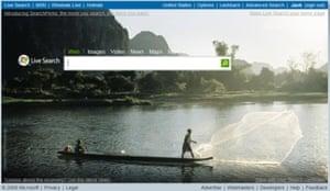Microsoft Live search screen