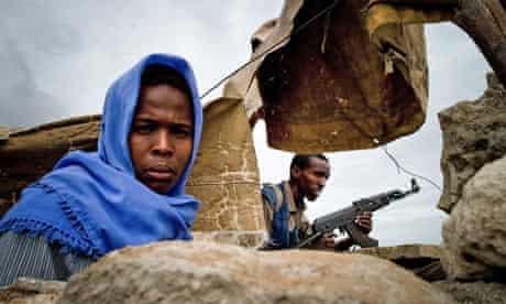 Islamic fighters in Mogadishu, Somalia