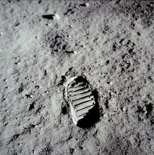 Apollo 11: Buzz Aldrin's bootprint on the moon