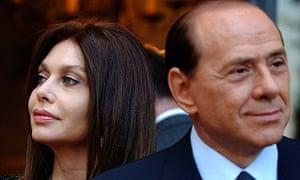 Veronica Lario and Silvio Berlusconi in 2004