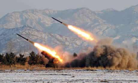 Missile drill in North Korea