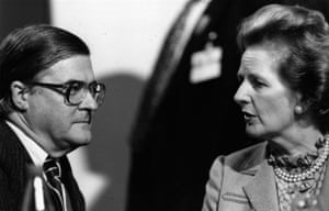 Margaret Thatcher: 1986: Kenneth Baker and Margaret Thatcher at the party conference