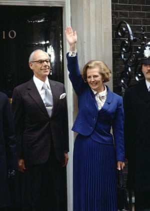 Margaret Thatcher: 1979: Margaret Thatcher at 10 Downing Street with husband Denis