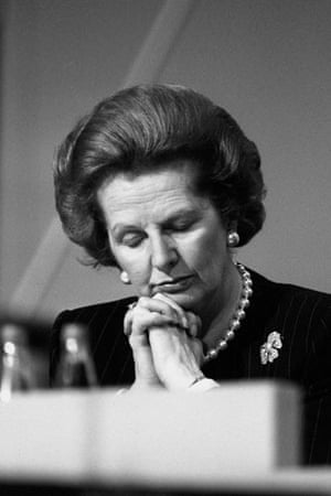 Margaret Thatcher: 1988: Margaret Thatcher at the Conservative Party conference in Brighton