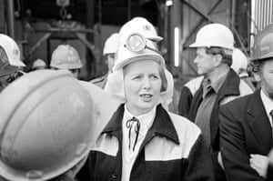 Margaret Thatcher: 1980: Margaret Thatcher at the Wistow colliery in the Selby coalfield
