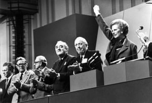 Margaret Thatcher: 1980: Margaret Thatcher on the last day of the party conference in Brighton