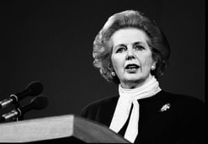 Margaret Thatcher: 1987: Margaret Thatcher speaking in Perth