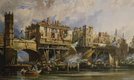 Taking Down the Houses of Old London Bridge by George Pyne