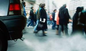 4x4 car exhaust emitting smoke