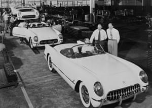 General motors: First Corvettes Rolling Off Assembly Line