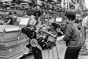 General motors: Car Assembly Line in the Oldsmobile Factory