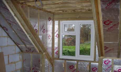 Insulation and class-A windows at Andy Phipps' green home