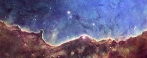 Hubble telescope: NGC 3324 is at the northwest corner of the Carina Nebula (NGC 3372