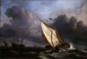 Turner and the masters : Willem Van de Velde the Younger, A Rising Gale
