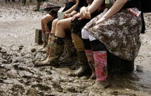 Festival fashion: Wellies at Glastonbury