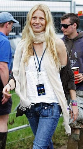 Festival fashion: Gywneth Paltrow at Glastonbury in 2005