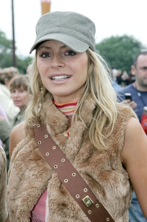 Festival fashion: Tess Daly at Glastonbury