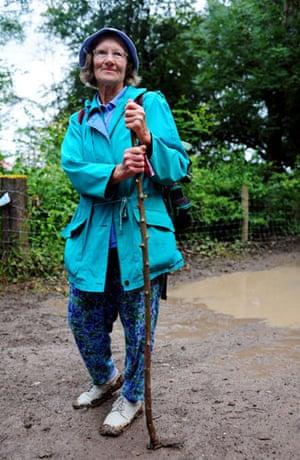 Festival fashion: Glastonbury festivalgoer